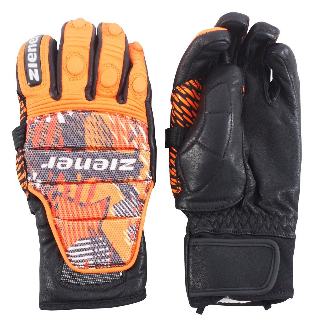 Ziener 2016 GLITTERPIECE THUMBPROTECTION Handschuh 2016 Ziener Poison Orange 62b0b5