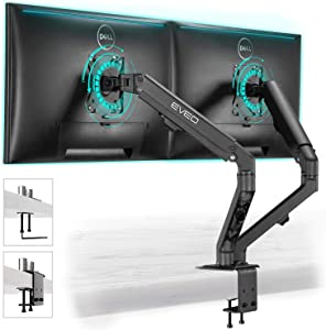 Monitor Mount - Dual Monitor Stand, VESA Mount, Dual Monitor Mount for 17''-32'' Inch or 4.4-15.4 Lbs Each Arm, Swivel VESA 75x75mm or 100x100mm, Dual Monitor Arms, Monitor Stand for Computer Screens