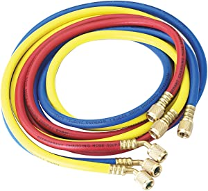 """Robinair (30072) 1/4"""" Standard Hoses with Standard Fittings Set - 72"""", Set of 3,MultiColor"""