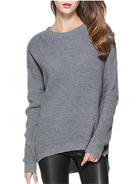 AILIENT Moda Mujer Manga Larga Blusas T-Shirts Sudaderas Casual Sweater Ligero Cuello Redondo Pulover