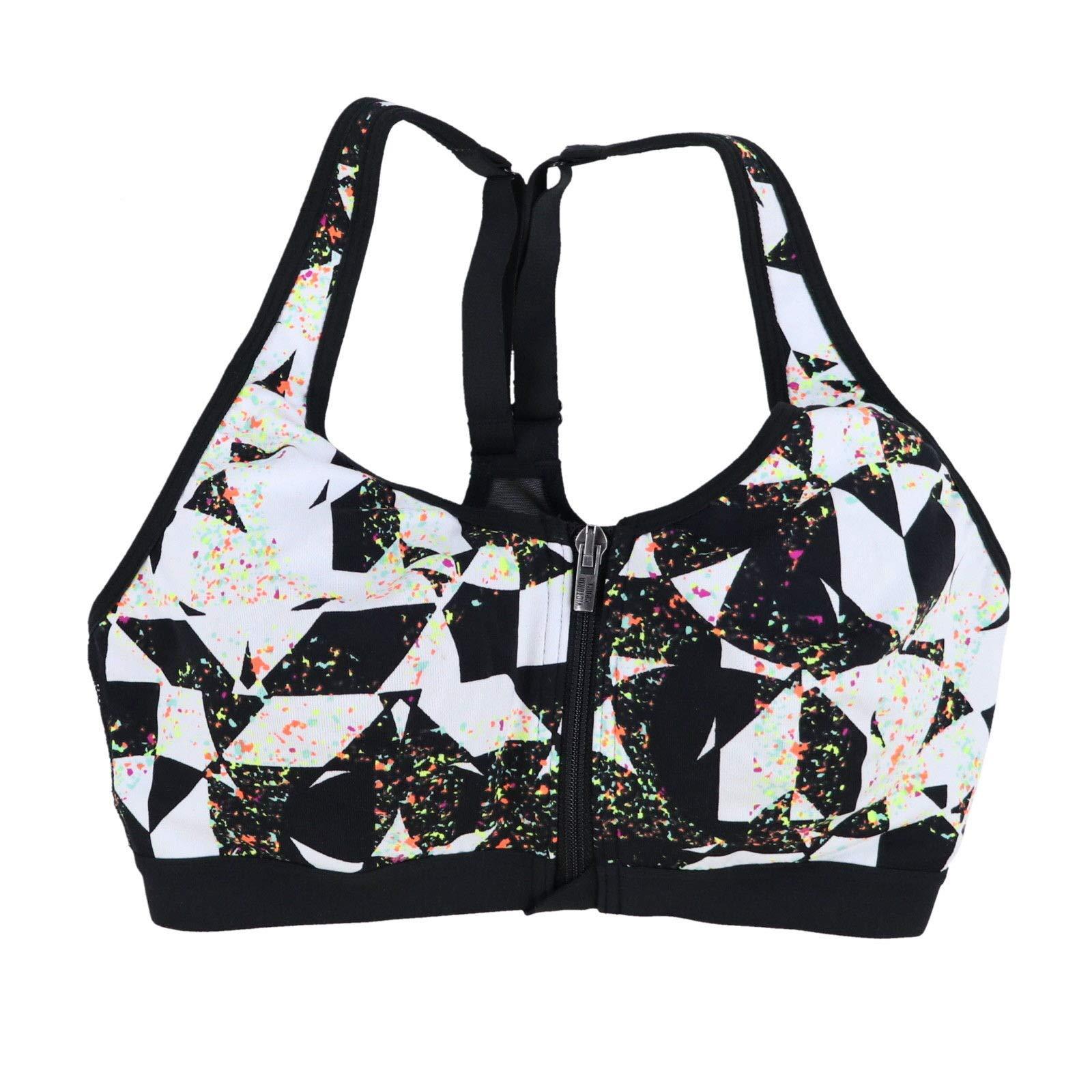 Victoria's Secret VSX Sports Bra Front Close Knockout (Checkered Paint Splash, 32C)