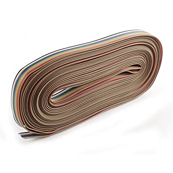 sourcingmap® 12,2 m 10-wege 10-polig Regenogen Farbe Flachbandkabel ...