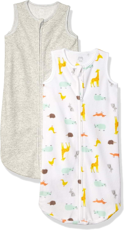 Amazon Essentials Girl's 2-Pack Microfleece Baby Sleep Sack