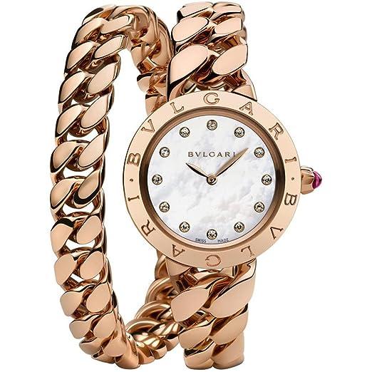 Bvlgari Bulgari Reloj de Mujer Diamante Cuarzo 31mm 102052 BBCP31WGG.2T/12: Amazon.es: Relojes