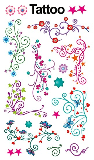 Avery Zweckform Tatuajes 76 x 120 mm Multicolor 1BG, diseño de ...