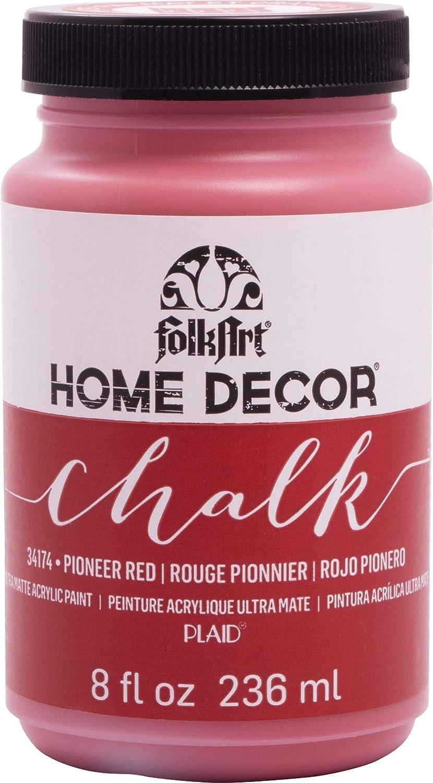 FOLKART 34174 Chalk Finish Paint, 8 oz, Pioneer Red Plaid Enterprises Inc.