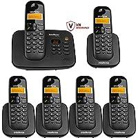 KIT TELEFONE SECRETÁRIA ELETRÔNICA TS 3130 + 5 RAMAIS TS 3111