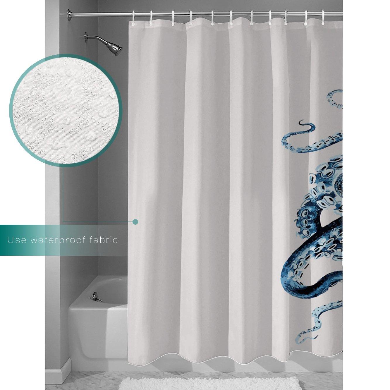 Amazon.com: CHARMHOME Custom Octopus Steampunk Ocean Shower Curtain ...