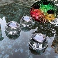 JiuRong luces flotantes del estanque solar luces