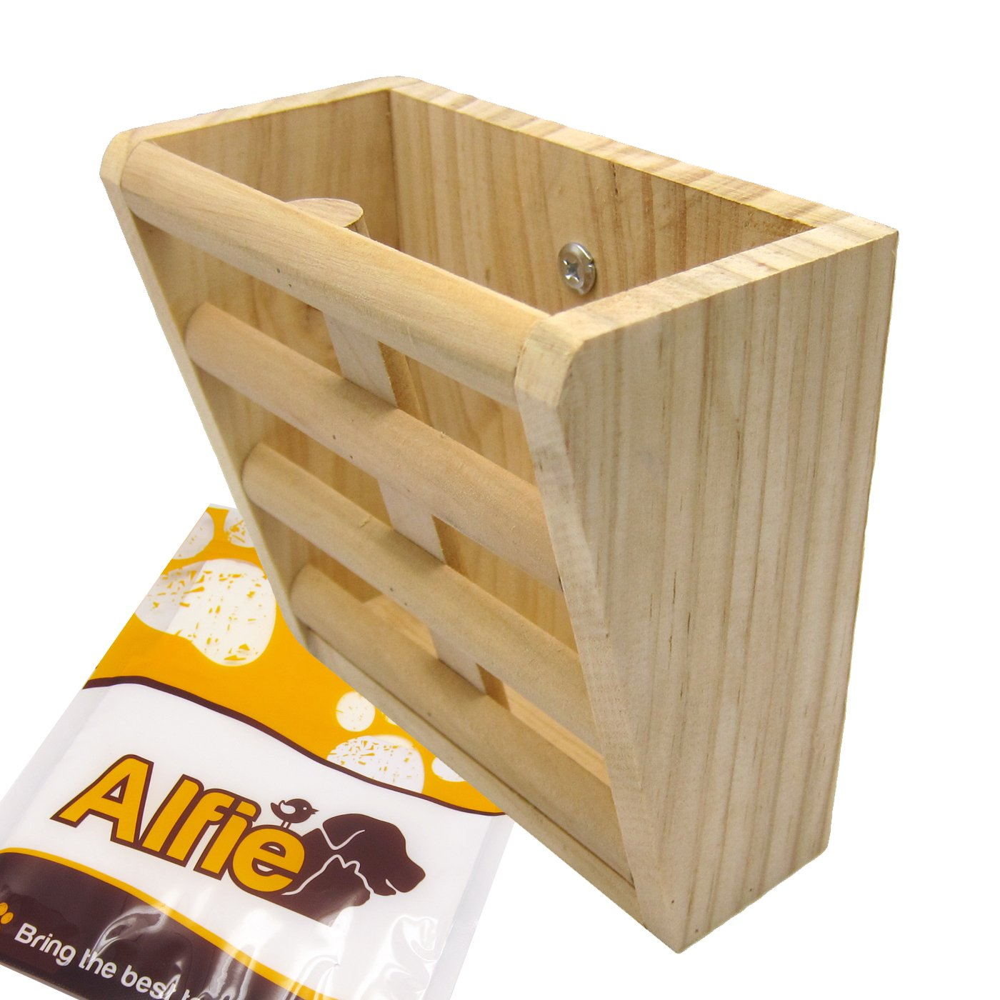Alfie Pet by Petoga Couture - Sean Wood Hay Manger Feeder for Mouse, Chinchilla, Rat, Gerbil and Dwarf Hamster