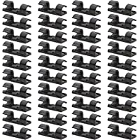 40 Pack Black Cable Clips - Viaky Strong 3M Self Adhesive Wire Holder Organizer Durable Cord Management System for Organizing Cables Home and Office