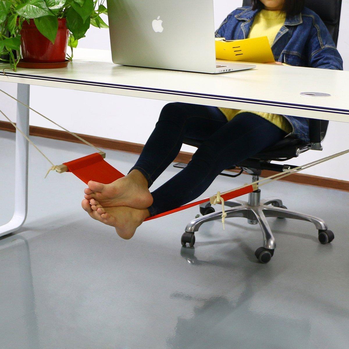 accmart adjustable mini foot rest stand office desk feet hammock orange  amazon co uk  office products accmart adjustable mini foot rest stand office desk feet hammock      rh   amazon co uk