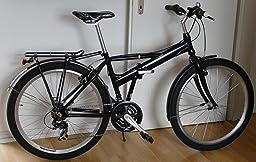 chiemsee 26 zoll klappfahrrad fahrrad in schwarz amazon. Black Bedroom Furniture Sets. Home Design Ideas