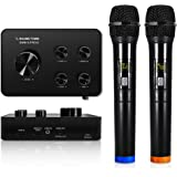 Sound Town Wireless Microphone Karaoke Mixer System, Supports HDMI ARC, Optical (Toslink), Smart TV, Media Box, PC, Bluetooth