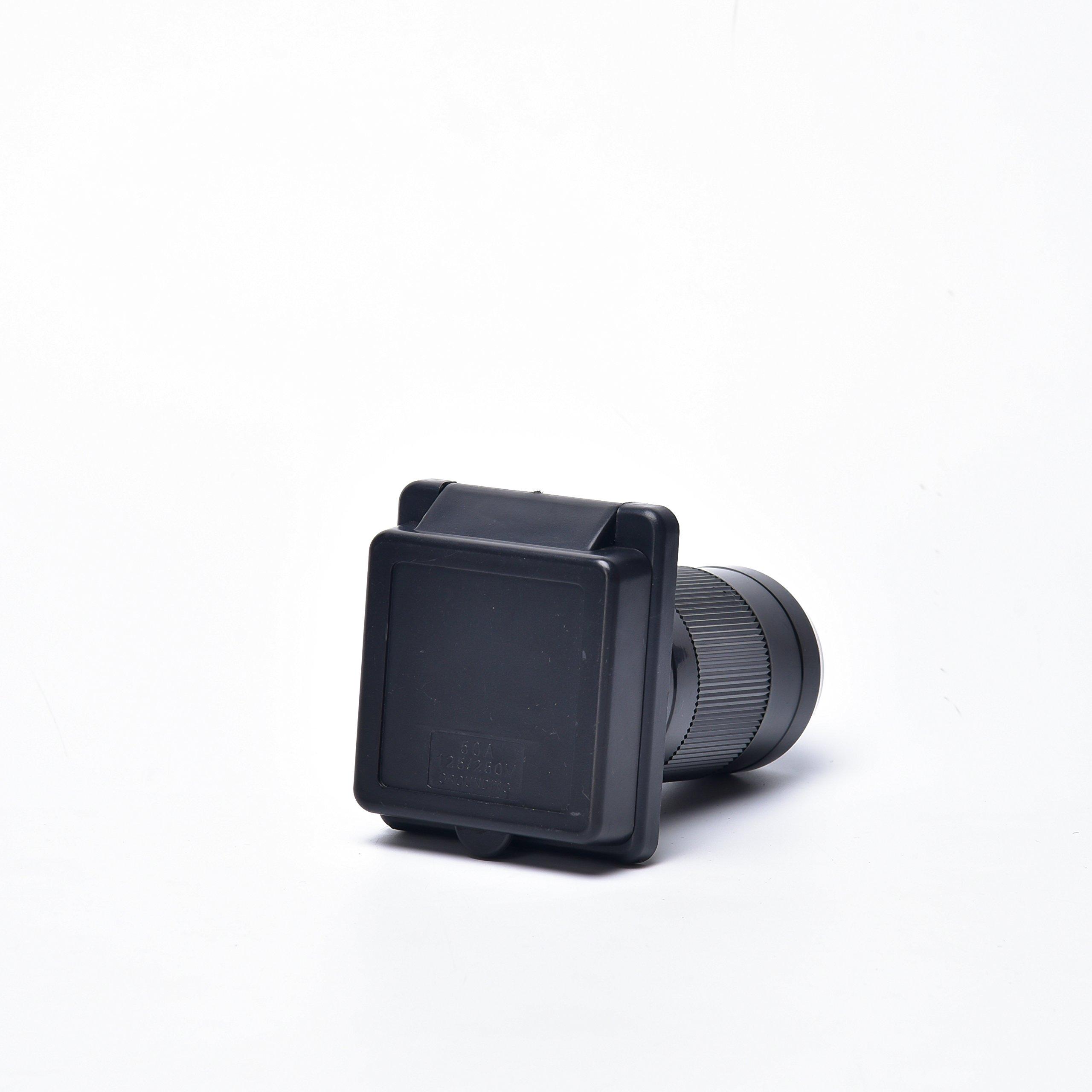 Trek Power 50A RV Power Twist Lock Inlet (black)