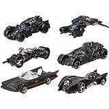 Hot Wheels Batman 6 Iconic Cars 1:64 Set DFK69