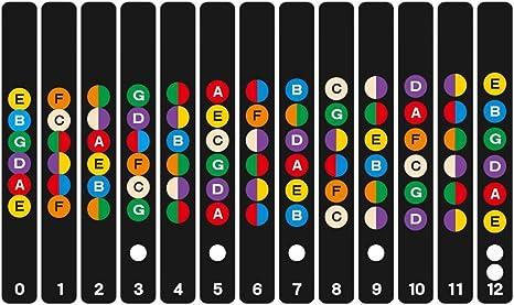 wangxinl adhesivo escala de guitarra color guitarra Fretboard Note ...