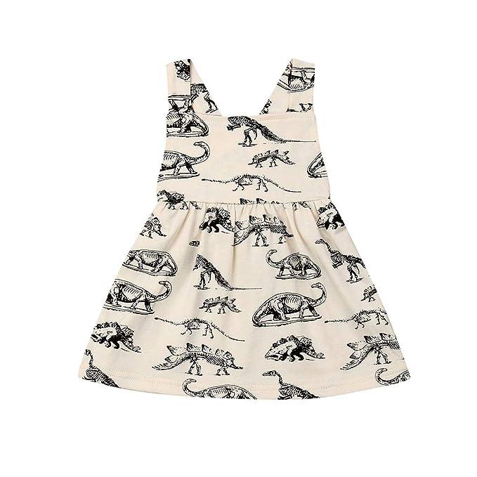Amazon.com: Vestido de dinosaurio para bebé, falda de tutú ...
