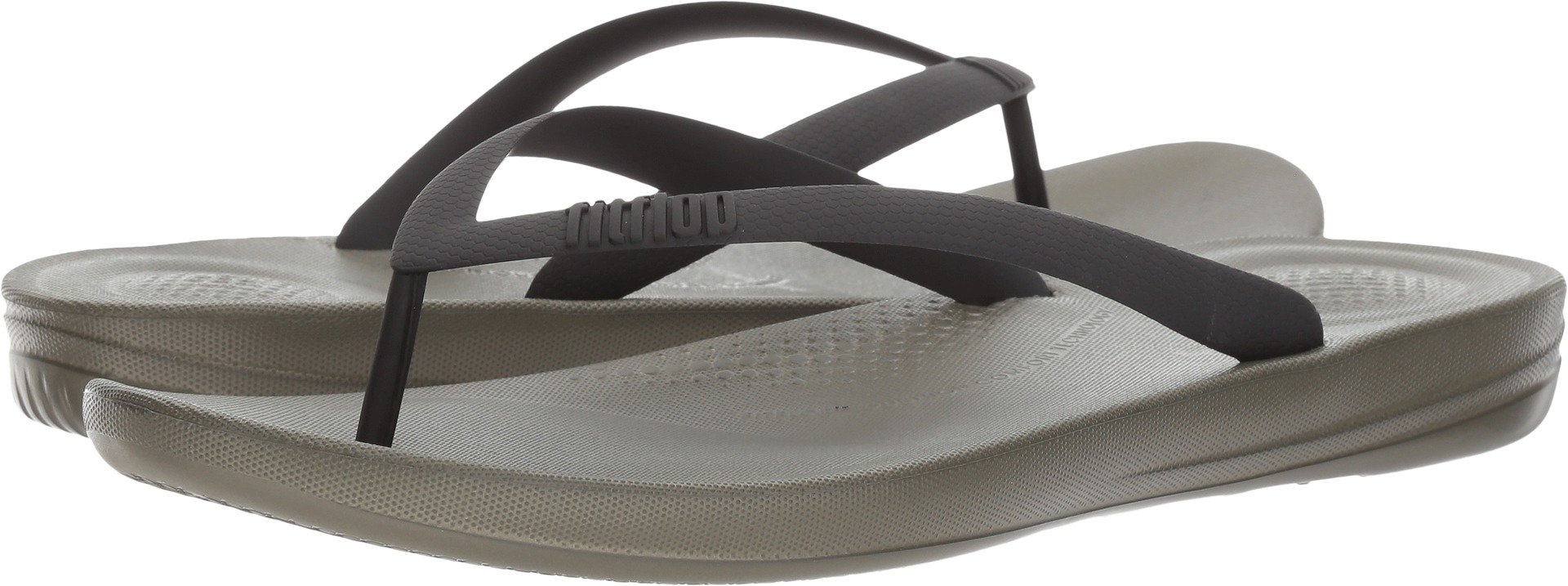 FitFlop Men's Iqushion Ergonomic Flip-Flop, Camouflage Green Mix, 8 M US