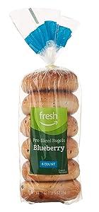 Fresh Brand – Blueberry Pre-Sliced Bagels, 21 oz (6 ct)