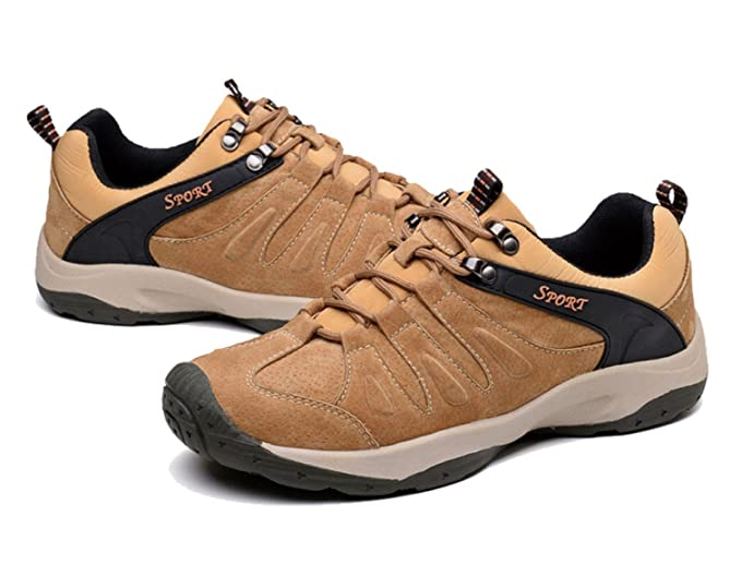 Outdoor Men's Shock-absorbing Wear-resistant Hiking Shoes Multi-color Multi- size,Brown-44: Amazon.co.uk: Sports & Outdoors