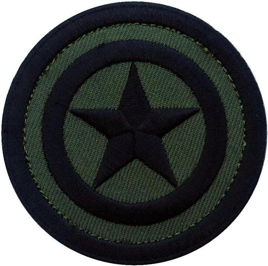 Hook Patch Mini Captain America Shield Camo Green Captain Star America Shield Tactical Moral Patch Klettband Taktishe Aufn/äher Von Titan One Europe