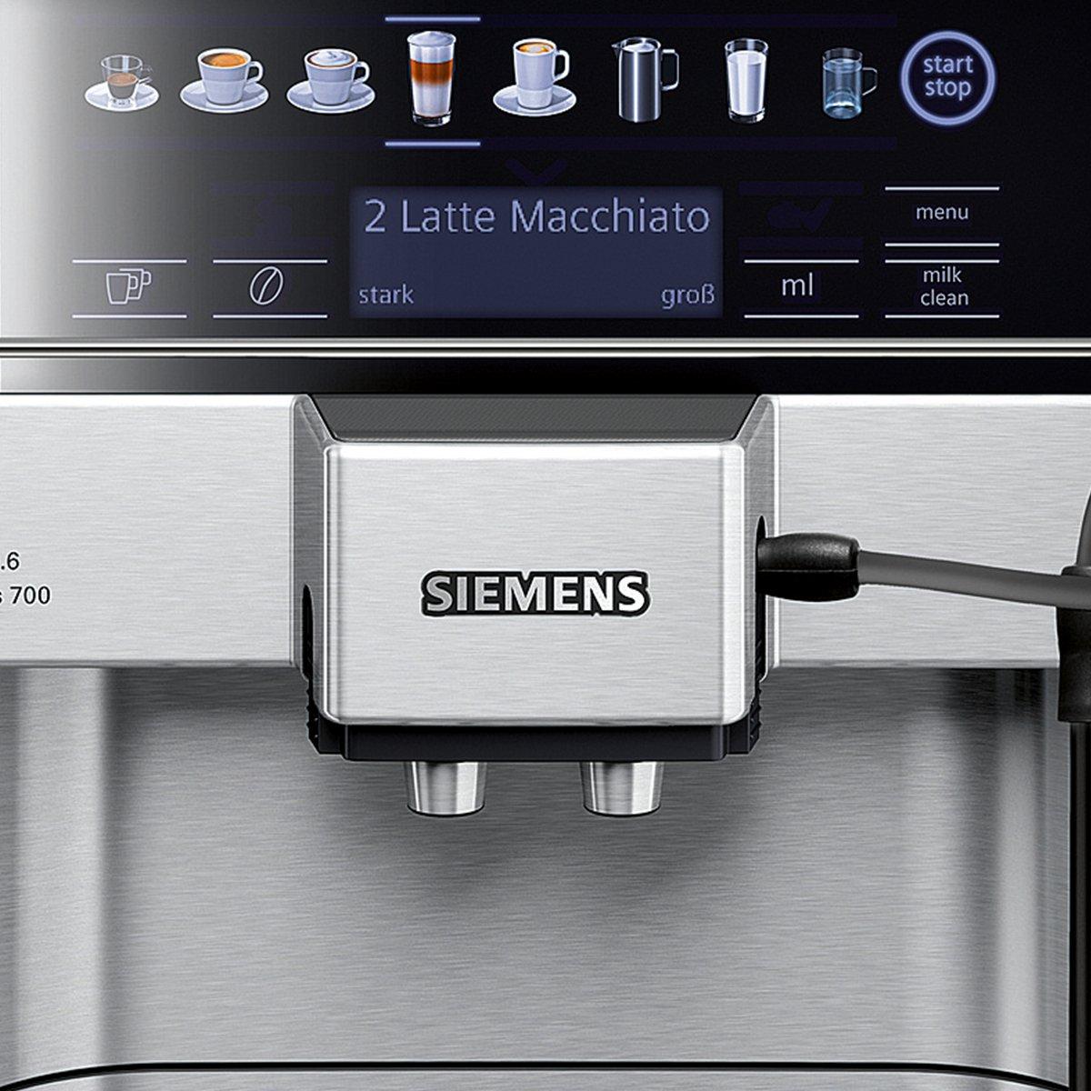 Siemens EQ.6 Series 700 - Cafetera automática, 1.7 L, color gris ...
