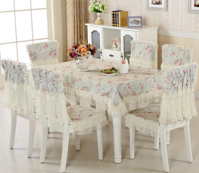 Amazon.com: Europe 8 pcs/Set Tablecloths Chair Covers,Large Size