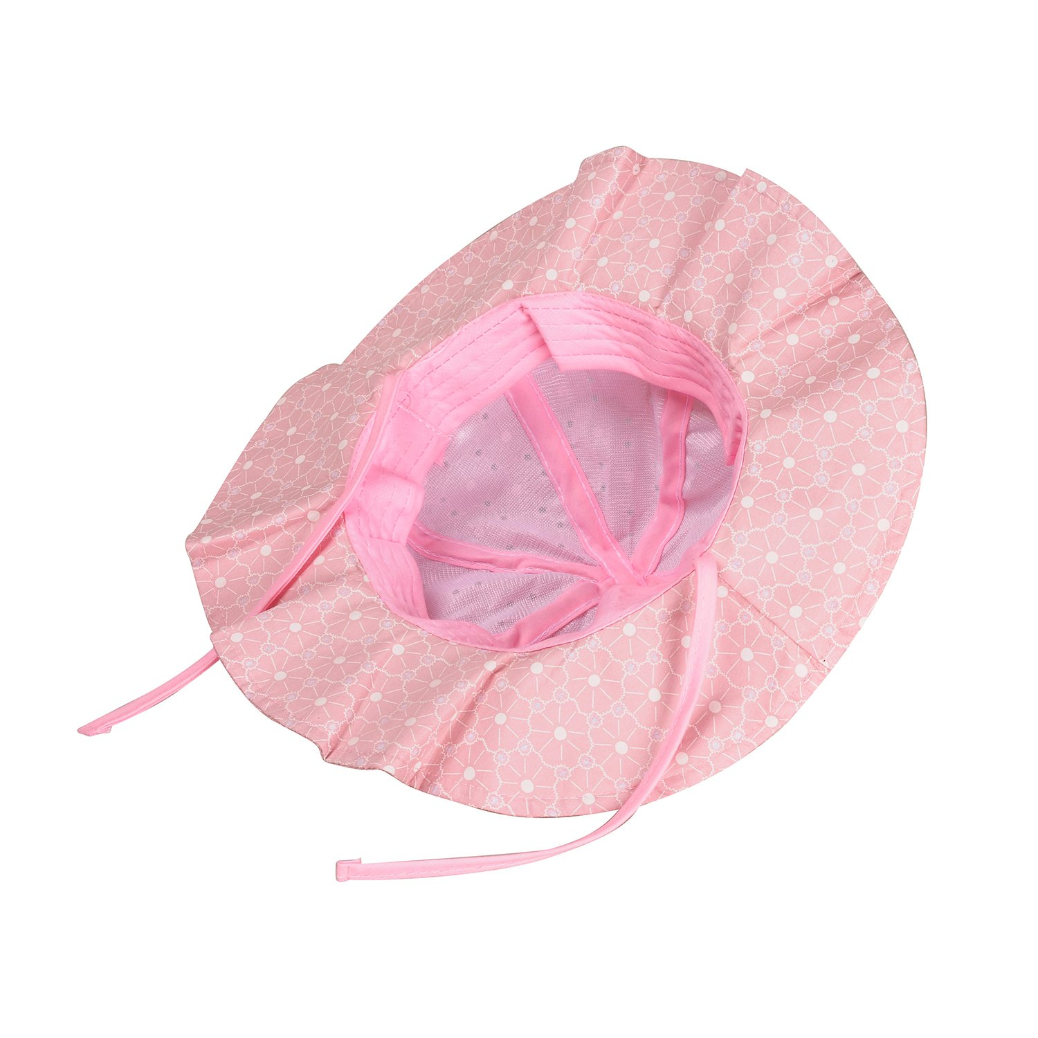 RORKEE Infant Toddlers Baby Girls Wide Brim Sun Protection Summer Floppy Hat(Pack of 2) by RORKEE (Image #3)