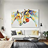 Crescent Art Horse Flower Wall Art Animal Oil