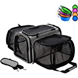 Coopeter Luxury Soft-Sided Pet Carrier Expandable,Pet Travel Carrier for Dog & Cat