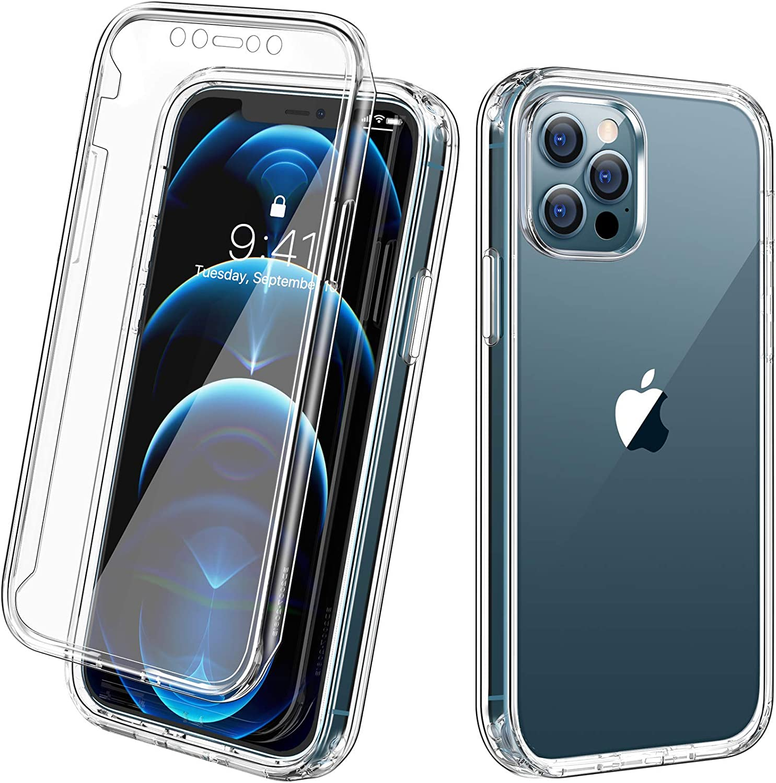 Funda c/ protector pantalla clear para iPhone 12/12 pro