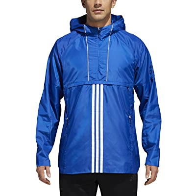 adidas Athletics ID Woven Anorak - Mens Collegiate Navy CV3269 at Amazon Men's Clothing store