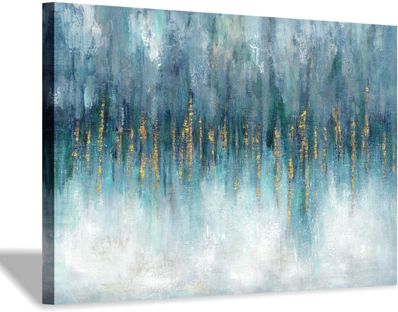 Hardy Gallery Abstract Picture Wall Art Canvas: Modern Artwork Texture Painting on Canvas for Bedroom (36'' x 24'' x 1 Panel)