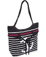 SilverHooks Women's Striped Anchor Tote Bag