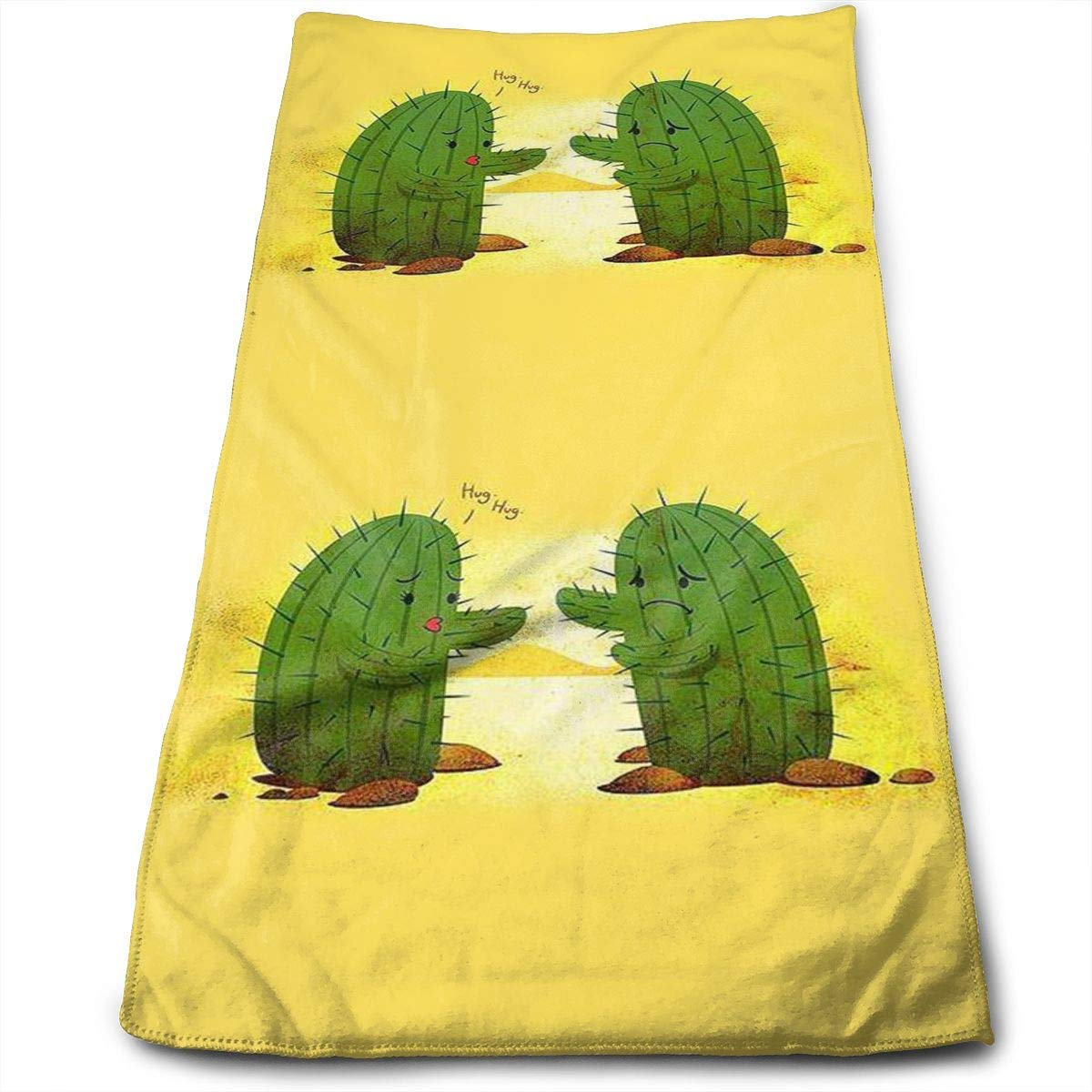 OQUYCZ Hug Cactus Adult Athletic.jpg Bath Towels for Bathroom-Hotel-SPA-Kitchen-Set - Circlet Egyptian Microfiber - Highly Absorbent Hotel Quality Towels 12' X 27.5'