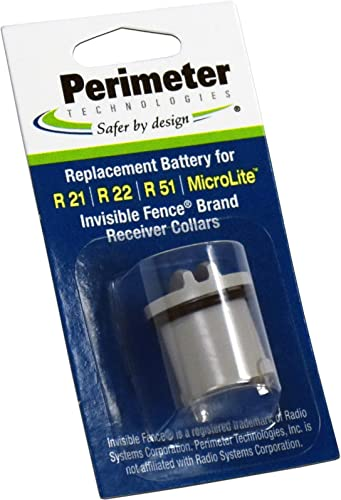 Perimeter Technologies Invisible Fence Compatible R21, R22, R51 and Microlite Dog Collar Battery