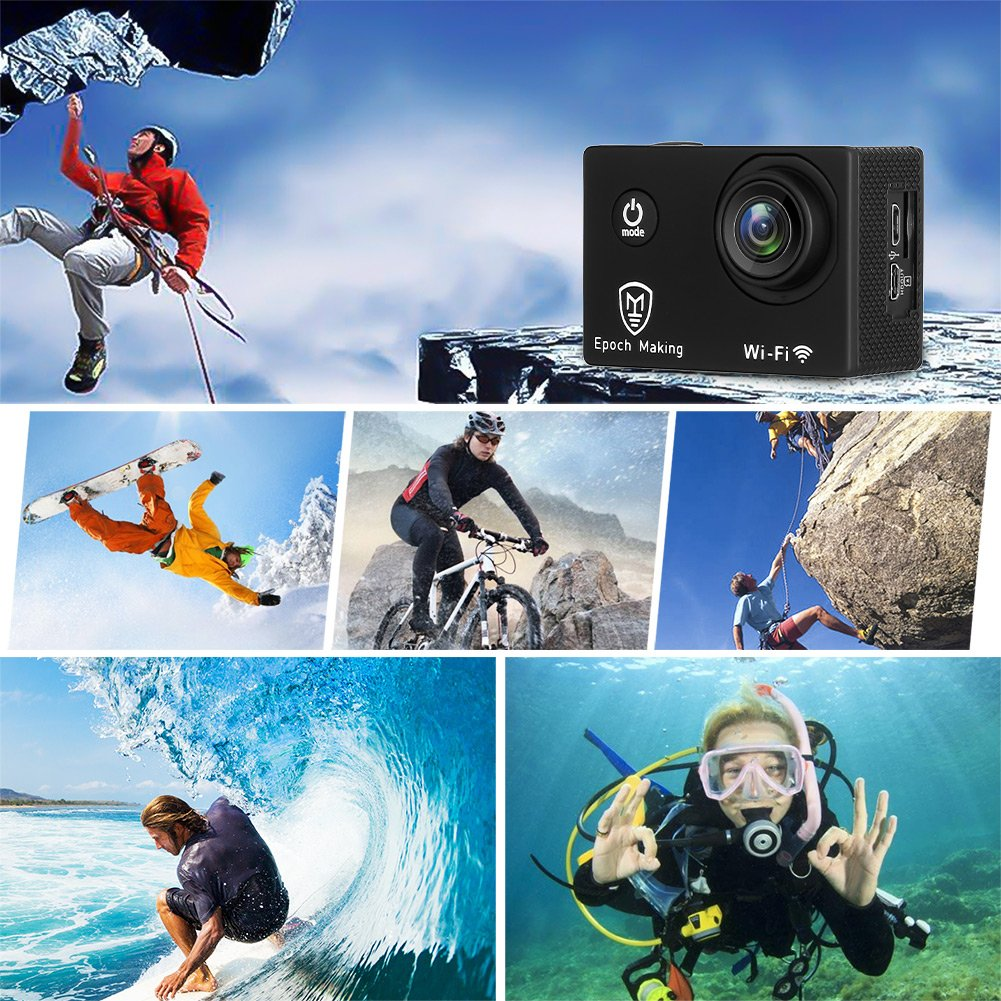 Epoch Making Action Camera, 4K Ultra HD WIFI Waterproof Sports Action Camera With 2-INCH LCD For Racing,Riding,Motorcycle,Surfing,Diving,Snorkeling,and More Water Sports by Epoch Making (Image #7)