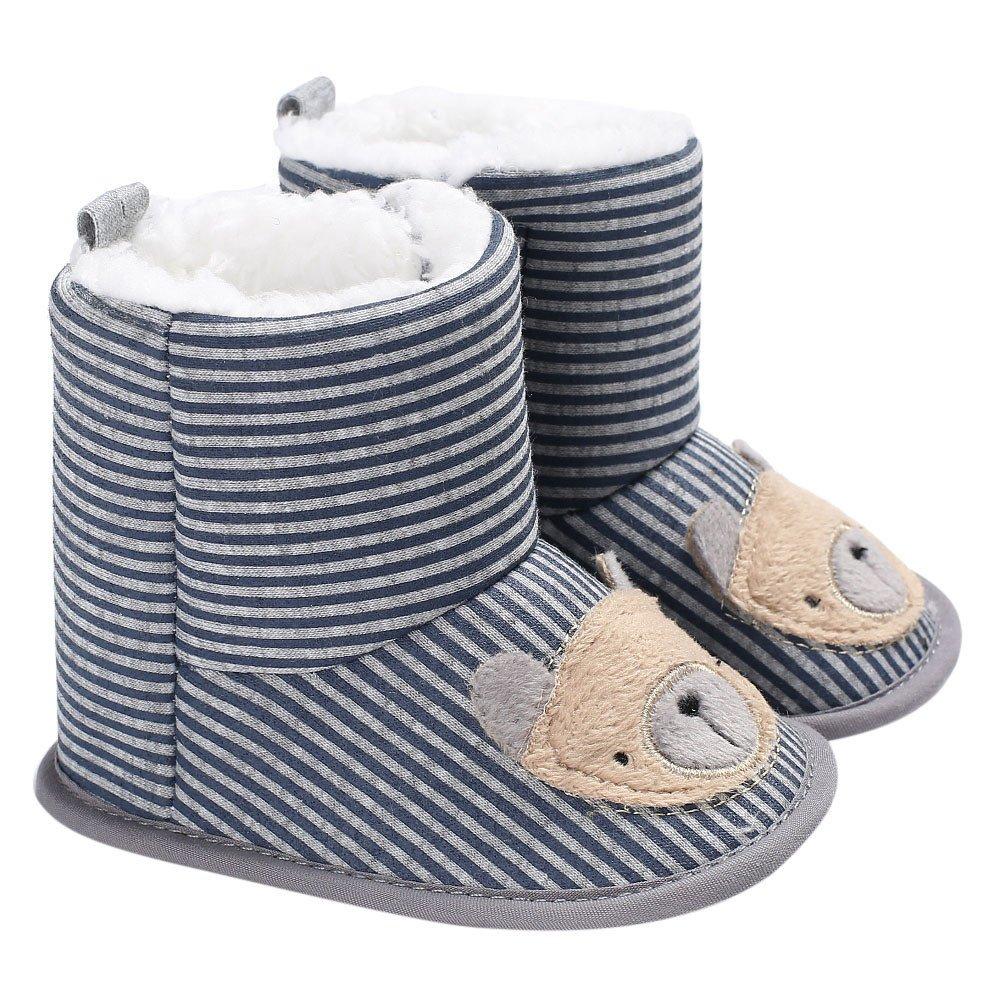 Robemon Bébé Fille Garçon Chaussons Doux Bottes De Neige Infant Toddler Chaussures Nouveau-Né De Réchauffement (0-18Mois)