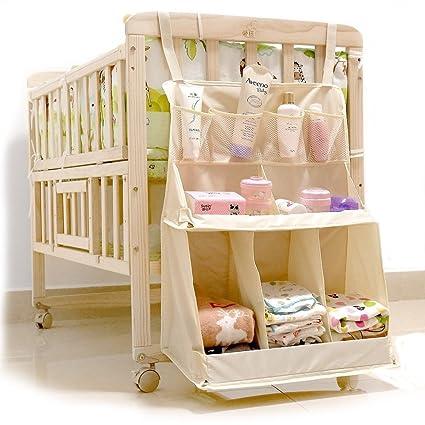 Organizador TradePro para cuna de bebé, guardería, perfecto para almacenar pañ