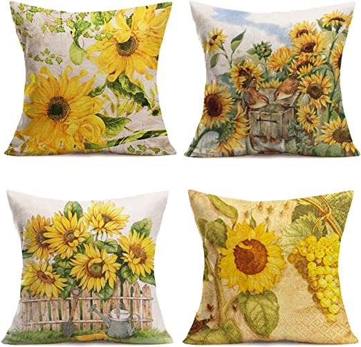 US SELLER decorative sofa pillows retro boho butterfly cushion cover