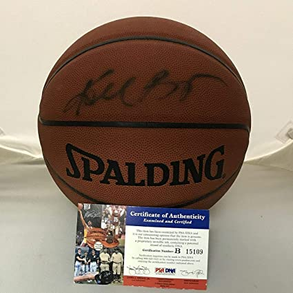 f4533415b090 Autographed Signed Kobe Bryant Los Angeles Lakers Spalding Full Size FS  Basketball PSA DNA COA at Amazon s Sports Collectibles Store