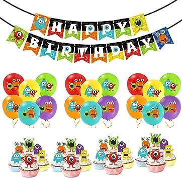 Amazon.com: Monster Bash Party Decorations – Globos de ...