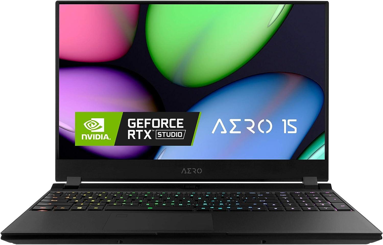 Gigabyte AERO 15 KB Thin+Light Performance Laptop, 15.6 240Hz FHD IPS Display, GeForce RTX 2060, Intel Core i7-10750H, 16GB DDR4, 512GB NVMe SSD, Up to 8.5-hrs (AERO 15 KB-7US2130SH)