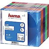 Hama Lot de 25 boîtiers CD Slim Box Plusieurs coloris