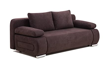 Gut bekannt Collection AB ULM Sofa Schlafsofa, Mikrofaser, braun, 98 x 200 x JR56