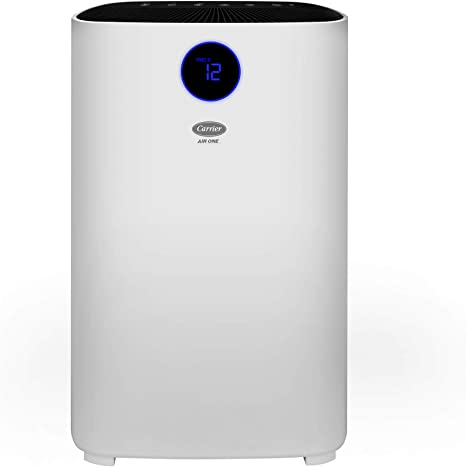 Carrier Air One Room Air Purifier With 3 Stage Filtration Pm2 5 Display And Color Indicator 260 Cadr Room Size Upto 300 Sq Ft With 3 Air Changes Hour Amazon In Home Kitchen
