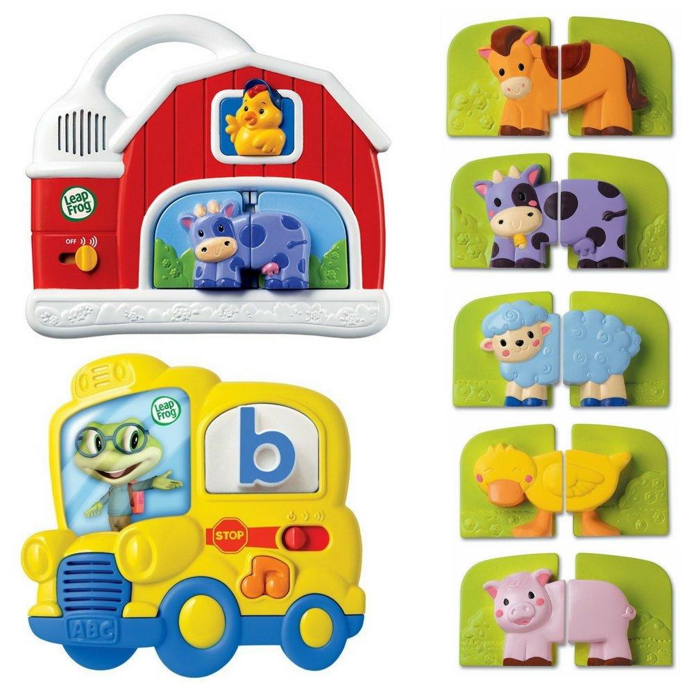 LeapFrog Fridge Farm Magnetic Animal and Fridge Phonics Magnetic Letter, Kids Learning & Educational Toys, Basic Skills Development, Kids Brain Boosting Activity, Fun Gift Bundle