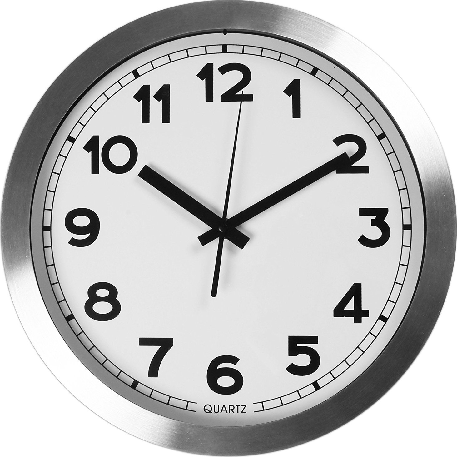 amazon com large decorative wall clock universal non ticking amazon com large decorative wall clock universal non ticking silent 12 inches wall clock by utopia home aluminum kitchen dining