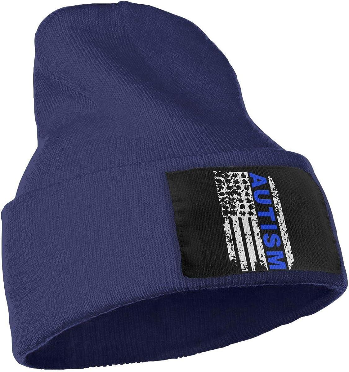 Autism Awareness Flag Original Beanie Hat Unisex 100/% Acrylic Knit Hat Cap